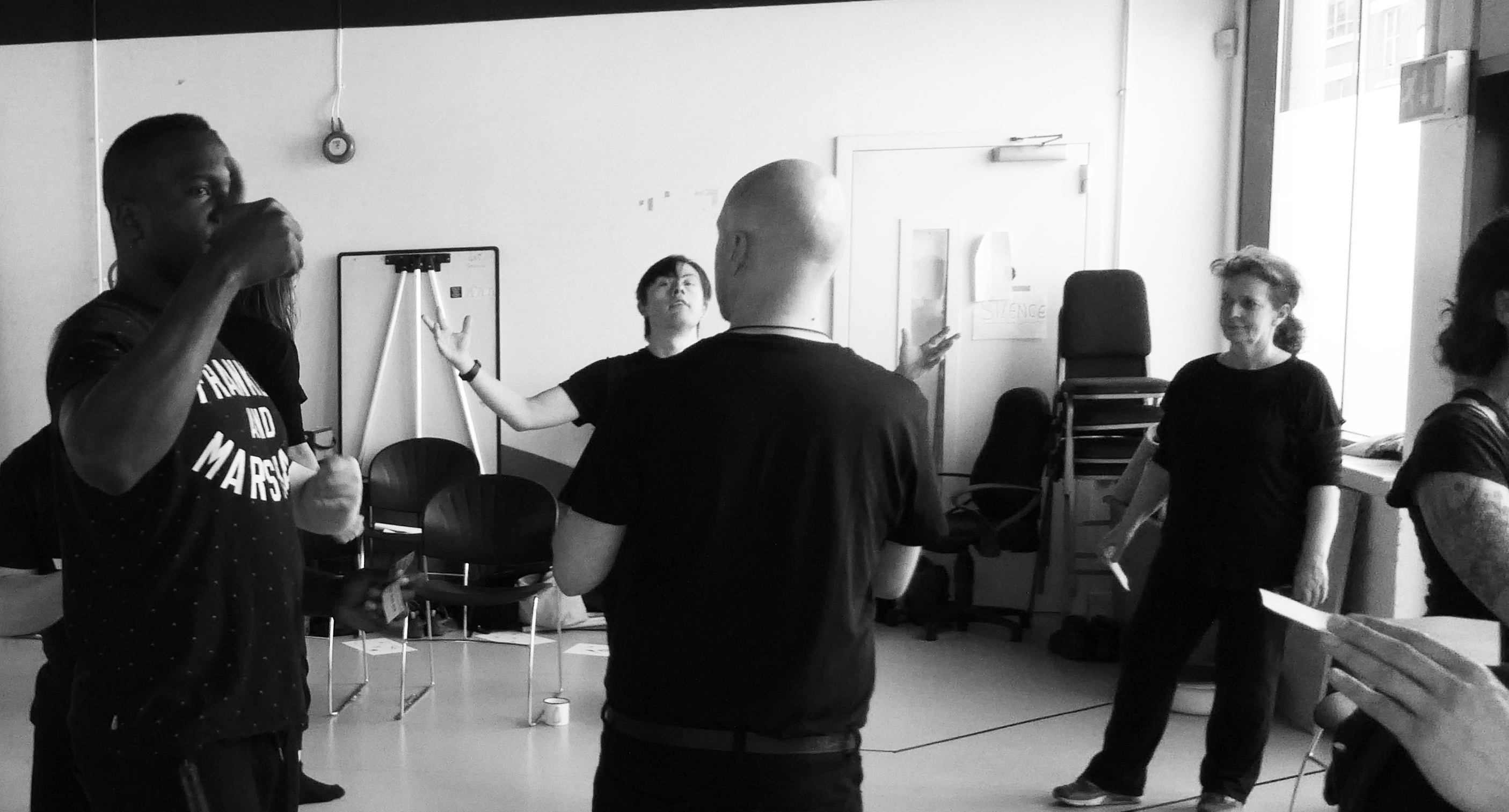 silent approach rehearsal at RADA